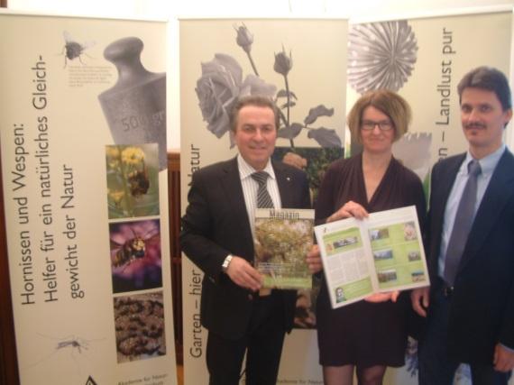 v.r.n.l.: Georg Krause (Stadt Donzdorf), Brigitte Schindzielorz, Claus-Peter Hutter (beide Umweltakademie)
