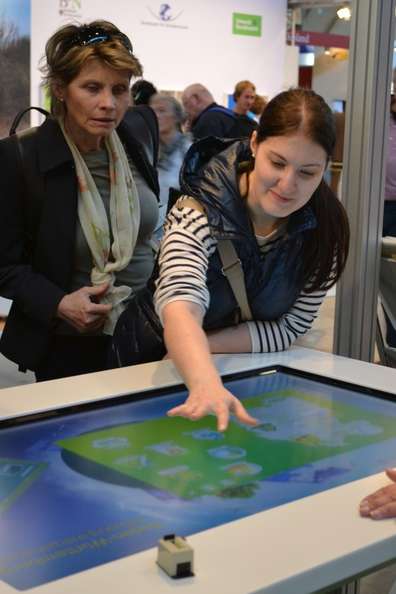 Didacta 2014- Erneuerbare Energien Tablet Touch Screen